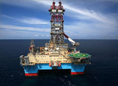 The Maersk discoverer rig