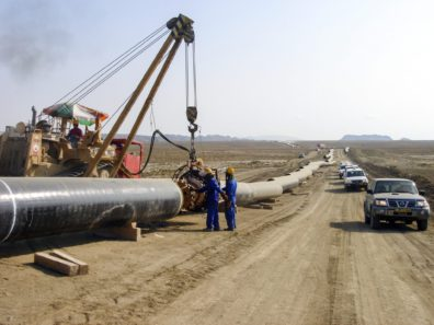 Pipeline construction in Azerbaijan