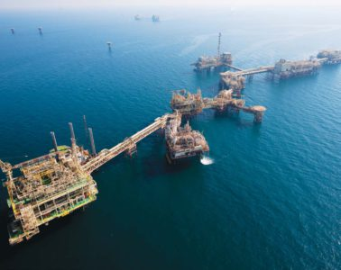 Offshore installations at the Nasr field offshore Abu Dhabi