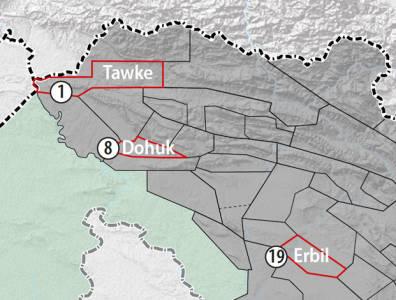 Tawke oilfield location