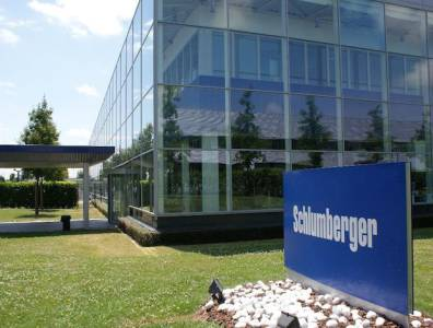 schlumberger office with logo