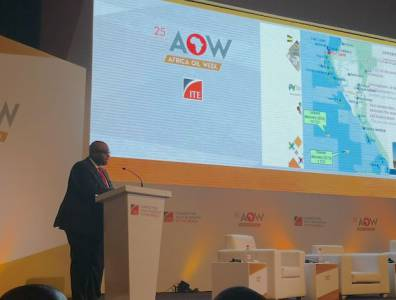 Gabon Minister of Oil and Hydrocarbons Pascal Houangni Ambouroue ends corporate tax at Africa Oil Week