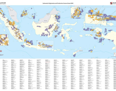 Indonesia's Exploration and Production Licence Areas 2020 Map
