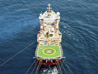 Seismic Vessel Abu Dhabi offshore 3D