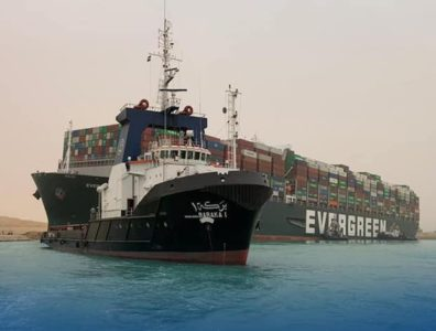 Suez Canal Emer Given blocked oil price