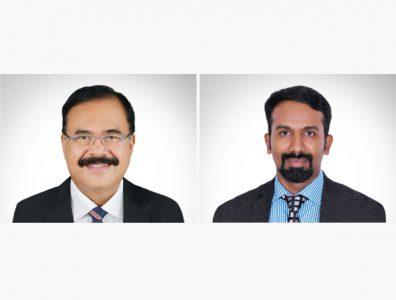 Sunny Kurian, chairman of Astra Engineering & Construction, and Harish Muhammed Bashir, the company's general manager